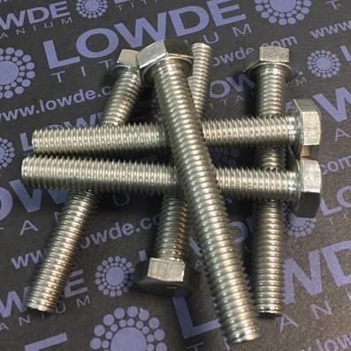 Tornillo DIN 933 M8x60 mm. de titanio gr. 2 (puro) - Tornillo DIN 933 M8x60 mm. de titanio gr. 2 (puro)