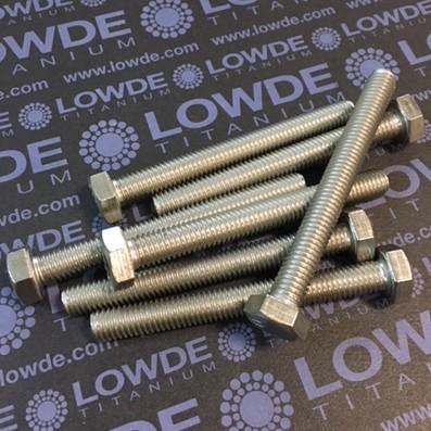 Tornillo DIN 933 M8x70 mm. de titanio gr. 2 (puro) - Tornillo DIN 933 M8x70 mm. de titanio gr. 2 (puro)