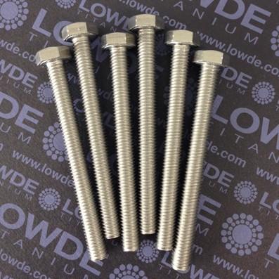 Tornillo DIN 933 M10x100 mm. de titanio gr. 2 (puro)