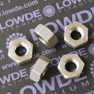 Tuerca DIN 934 M10 de titanio gr. 2 (puro) - Tuerca DIN 934 M10 de titanio gr. 2 (puro)