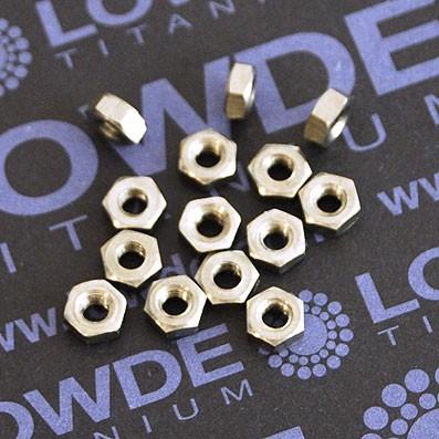 Tuerca DIN 934 M3 de titanio gr. 2 (puro) - Tuerca DIN 934 M3 de titanio gr. 2 (puro)