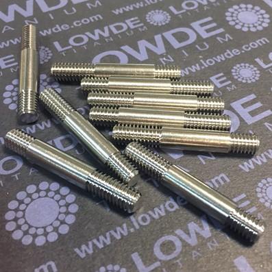 Espárrago DIN 938 M6x39 mm. de Titanio grado 5 (6Al-4V) - Espárrago DIN 938 M6x39 mm. Titanio gr. 5 (6Al-4V) Rosca de 8 mm. y de 12 mm.