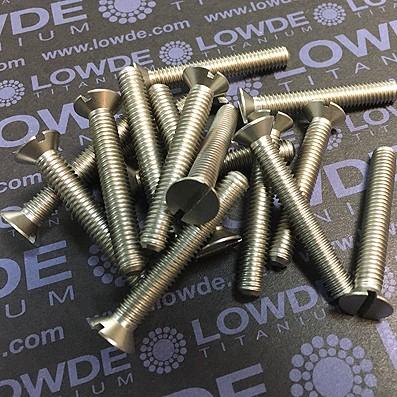 Tornillo DIN 963 M6x40 mm. de titanio gr. 2 (puro)