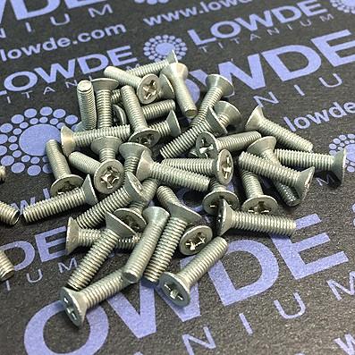 Tornillo DIN 965 M3x12 mm. de titanio gr. 2 (puro)