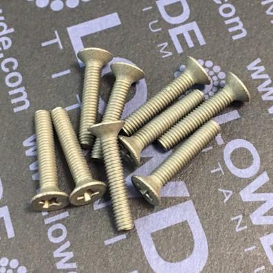Tornillo DIN 965 M3x16 mm. de titanio gr. 2 (puro)