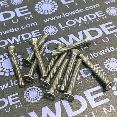 Tornillo DIN 965 M3x25mm. de titanio gr. 2 (puro) - Tornillo DIN 965 M3x25 mm. de titanio gr. 2 (puro)