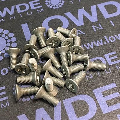 Tornillo DIN 965 M3x8 mm. de titanio gr. 2 (puro)