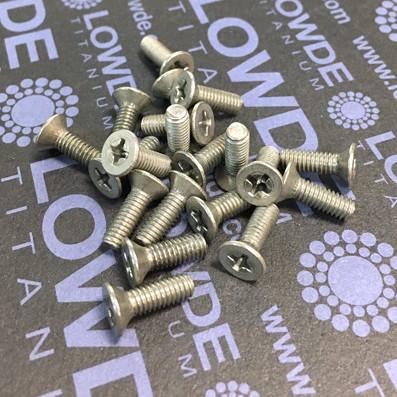 Tornillo DIN 965 M4x12 mm. de titanio gr. 2 (puro) - 1 Tornillo DIN 965 M4x12 mm. de titanio gr. 2 (puro)