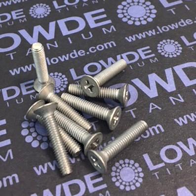 Tornillo DIN 965 M4x20 mm. de titanio gr. 2 (puro) - Tornillo DIN 965 M4x20 mm. de titanio gr. 2 (puro)