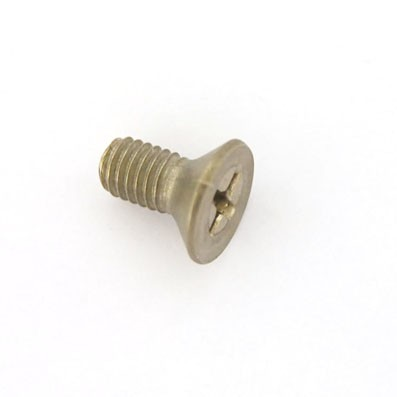 Tornillo DIN 965 M5x10 mm. de titanio gr. 2 (puro) - 1 Tornillo avellanado DIN 965 M5x10 mm. de titanio gr. 2 (puro)