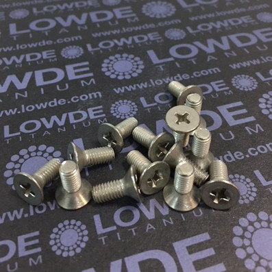 Tornillo DIN 965 M5x12 mm. de titanio gr. 2 (puro)