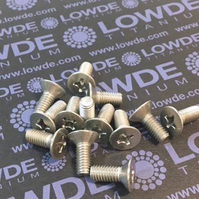 Tornillo DIN 965 M6x15 mm. de titanio gr. 2 (puro)
