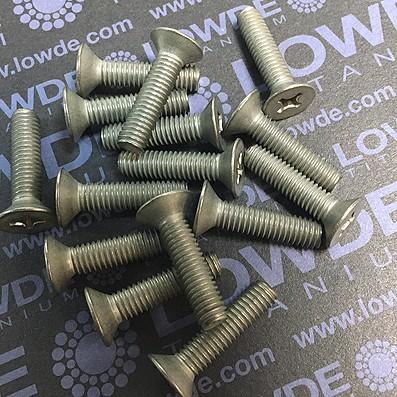 Tornillo DIN 965 M6x25 mm. de titanio gr. 2 (puro) - Tornillo DIN 965 M6x25 mm. de titanio gr. 2 (puro)