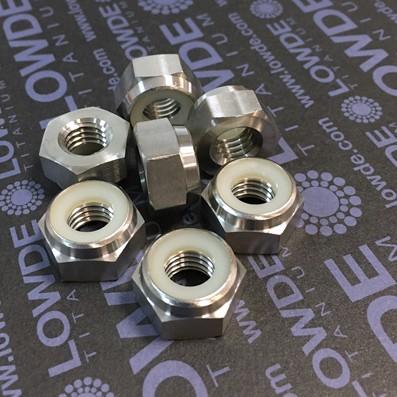 Tuerca DIN 985 M10x1,50 autoblocante de titanio gr. 5 (6AL-4V) - Tuerca DIN 985 M10x1,50 autoblocante de titanio gr. 5 (6AL-4V)
