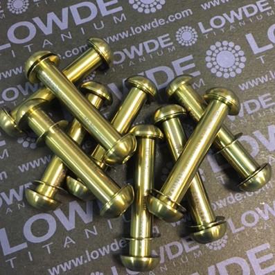 Eje 8x40 mm. con tornillo M6 y dos arandelas de Titanio gr. 5 (6Al4V) - Eje 8x40 mm. con tornillo M6 y dos arandelas de Titanio gr. 5 (6Al4V)