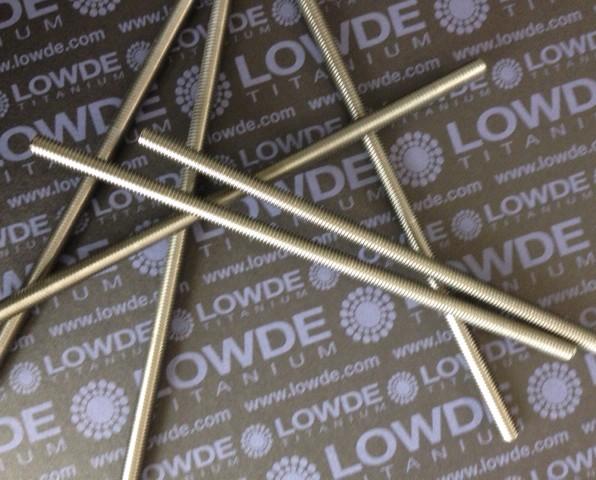Espárrago DIN 976 M6x160 mm. de titanio gr. 5 (6Al4V) - Espárrago DIN 976 M6x160 mm. de titanio gr. 5 (6Al4V)