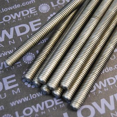 Espárrago DIN 975 M8x1,25x230 mm. de titanio gr. 2 - Espárrago DIN 975 M8x1,25x230 mm. de titanio gr. 2