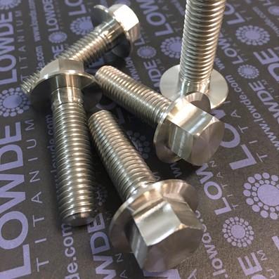 DIN 6921 M12x1,75x45 mm. de titanio gr. 5 (6Al4V) - 1 Tornillo cabeza hexagonal DIN 6921 M12x1,75x45 mm. de titanio gr. 5 (6Al4V)
