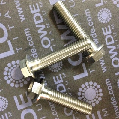 HEXAGONAL CON BALONA M8x35 mm. titanio gr. 5 (6Al4V) - 1 Tornillo cabeza hexagonal con balona M8x35 mm. titanio gr. 5 (6Al4V).