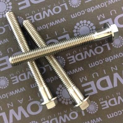 HEXAGONAL CON BALONA M8x70 mm. titanio gr. 5 (6Al4V) - 1 Tornillo cabeza hexagonal con balona M8x55 mm. titanio gr. 5 (6Al4V).