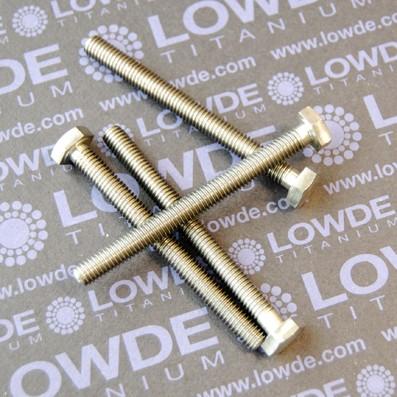 DIN 933 M6x65 mm. de titanio gr. 5 (6Al4V) - DIN 933 M6x65 mm. de titanio gr. 5 (6Al4V)