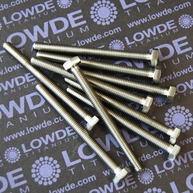 DIN 933 M6x70 mm. de titanio gr. 5 (6Al4V) - DIN 933 M6x70 mm. de titanio gr. 5 (6Al4V)