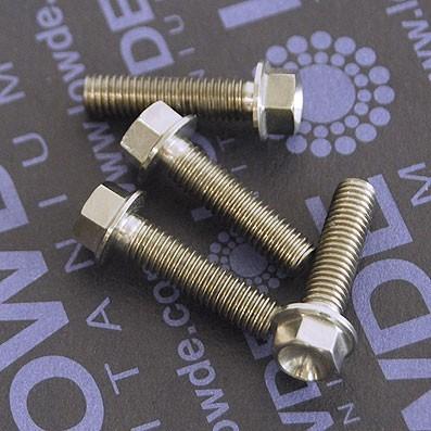 HEXAGONAL CON BALONA M5x20 mm. titanio gr. 5 (6Al4V)