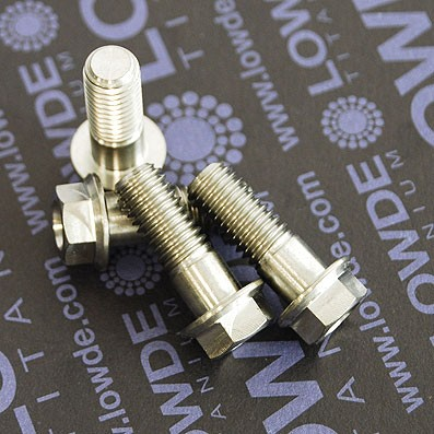 HEXAGONAL CON BALONA M8x22 mm. titanio gr. 5 (6Al4V)