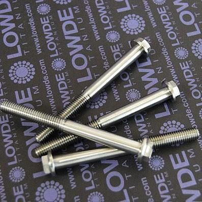 HEXAGONAL CON BALONA M8x85 mm. titanio gr. 5 (6Al4V) - 1 Tornillo cabeza hexagoanl con balona M8x85 mm. titanio gr. 5 (6Al4V).
