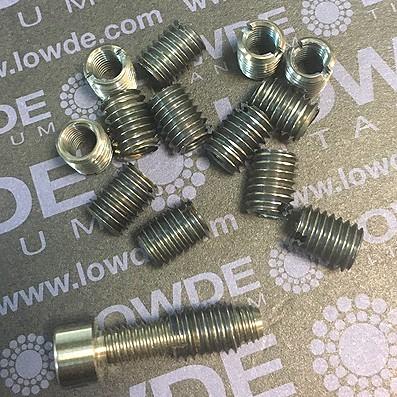 Inserto roscaso M6-M8x10 mm. de Titanio gr. 5 (6Al4V) - 1 Inserto roscaso M6x1,00 a M8x1,25 x 10 mm. de Titanio gr. 5 (6Al4V)