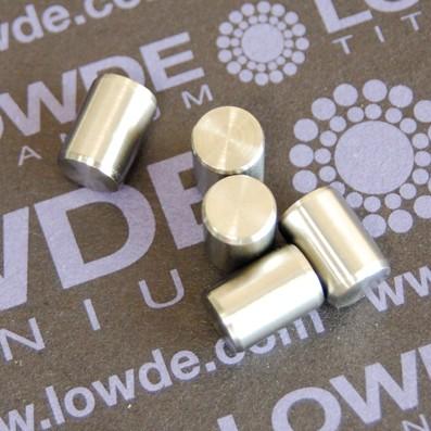 Pin ISO 2338 Ø7x10 mm. tol. h8 de Titanio gr. 5 (6Al4V) - Pin ISO 2338 Ø7x10 mm. tol. h8 de Titanio gr. 5 (6Al4V)