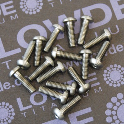ISO 7380 M3x10 mm. de titanio gr. 5 (6Al4V) - ISO 7380 M3x10 mm. de titanio gr. 5 (6Al4V)