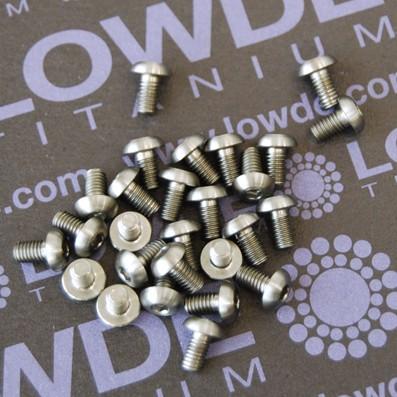 ISO 7380 M3x5 mm. de titanio gr. 5 (6Al4V) - ISO 7380 M3x5 mm. de titanio gr. 5 (6Al4V)