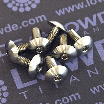 Tornillo ISO 7380 M4x10 mm. de Titanio gr. 5 (6Al4V) Diámetro cabeza: 10 mm. - 1 Tornillo ISO 7380 M4x10 mm. de Titanio gr. 5 (6Al4V) Diámetro cabeza: 10 mm.