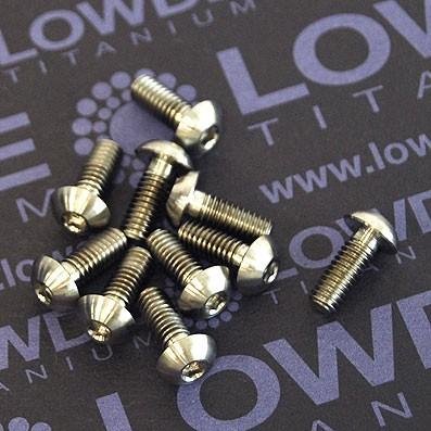 Tornillo ISO 7380 M4x10 mm. de Titanio gr. 5 (6Al4V) - 1 Tornillo ISO 7380 M4x10 mm. de Titanio gr. 5 (6Al4V)