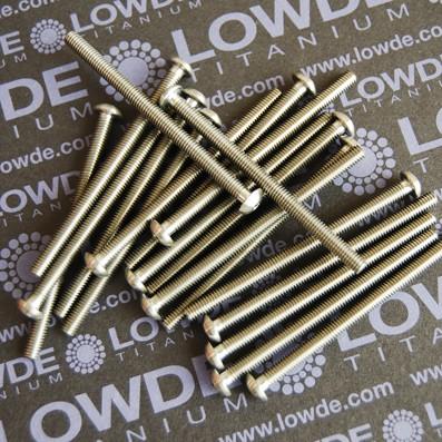 ISO 7380 M4x60 mm. de titanio gr. 5 (6Al4V)
