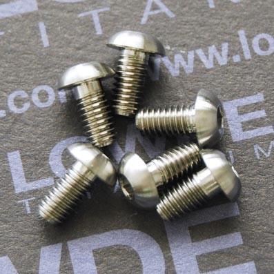 Tornillo ISO 7380 M4x8 mm. de Titanio gr. 5 (6Al4V) - Tornillo ISO 7380 M4x8 mm. de Titanio gr. 5 (6Al4V)