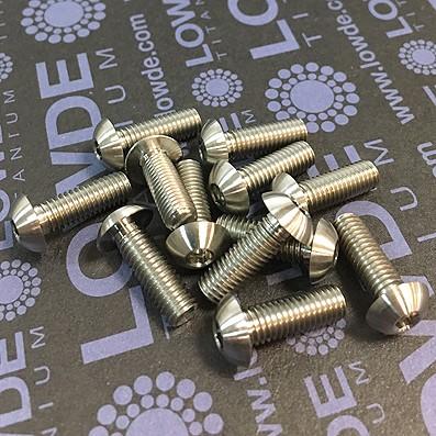 Boton ISO 7380 M5x15 mm. de titanio gr. 5 (6Al4V).