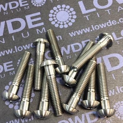Boton ISO 7380 M5x25 mm. de titanio gr. 5 (6Al4V).  - 1 Tornillo de botón ISO 7380 M5x25 mm. de titanio gr. 5 (6Al4V). Longitud roscada: 20 mm.