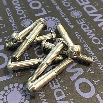 Boton ISO 7380 M5x30 mm. de titanio gr. 5 (6Al4V).