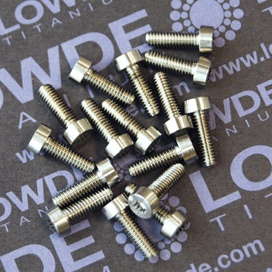 10 Screws LN 29950 M4x12 titanio gr. 5 (6Al4V)