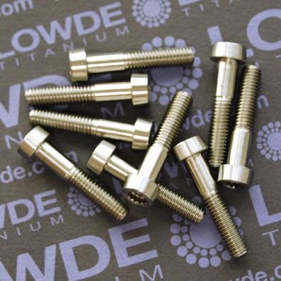 33 Screws LN 29950 M5x25 titanio gr. 5 (6Al4V) - 33 Items LN 299500525B M5x25 mm. titanio gr. 5 (6Al4V). Fabricado bajo normativa aeroespacial.