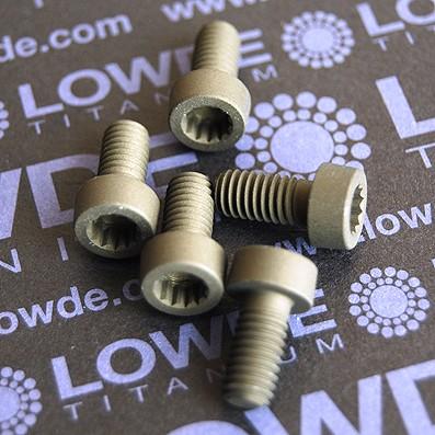 53 Screws LN 29950 M6x12 titanio gr. 5 (6Al4V) - 53 Items LN 299500612 B M6x1,00x12 titanio gr. 5 (6Al4V) AMS 4928. Fabricado bajo normativa aeroespacial. Certificados de calidad incluidos.