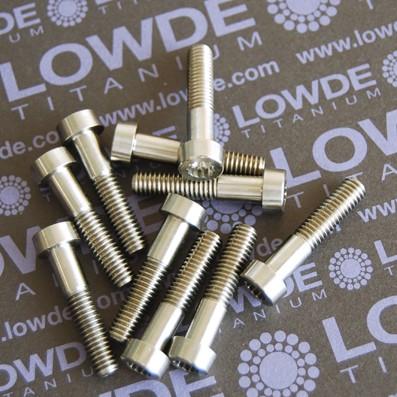 35 crews LN 29950 M6x28 mm. de Titanio gr. 5 (6Al4V) - 35 Items LN 299500628 M6x1,00x28 mm. titanio gr. 5 (6Al4V) AMS 4928. Certificados de calidad incluidos.