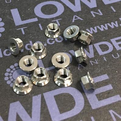 Tuerca LN9161 M3 de titanio gr. 5 (6Al4V) - Tuerca LN9161 M3x0,50 de titanio gr. 5 (6Al4V)