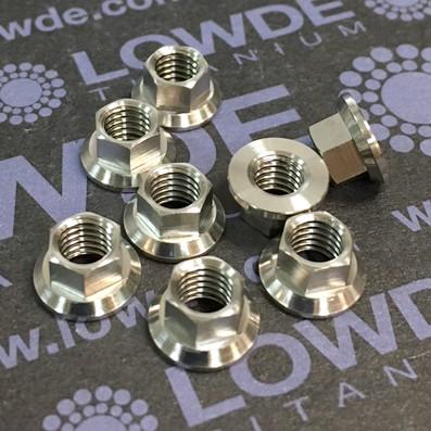 Tuerca LM9161 M5 de titanio gr. 5 (6Al4V) - Tuerca LN9161 M5x0,80 de titanio gr. 5 (6Al4V)