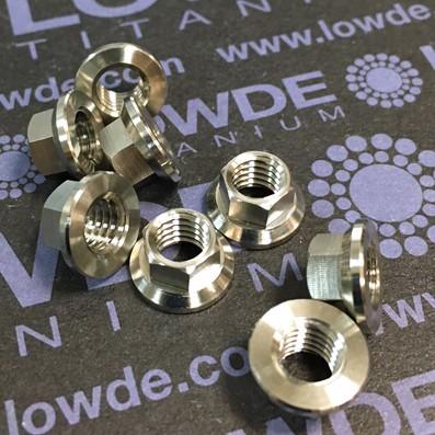 Tuerca DIN LN9161 M6 de titanio gr. 5 (6Al4V) - Tuerca LN9161 M6x1,00 de titanio gr. 5 (6Al4V)