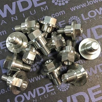 Tornillo botón M6x7 mm. distanciador Ø9x5 mm. Titanio gr. 5