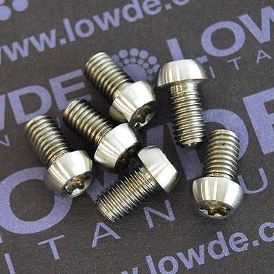 Kit 6 tornillos M5x09 mm. Titanio. DISCOS FRENO.Torx T25 - Kit 6 tornillos M5x09 mm. Titanio gr. 5. DISCOS FRENO. Llave torx T25