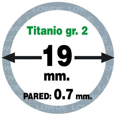 Tubo 1 metro de TITANIO gr. 2 ASTM B338 en diámetro 19 mm. Grosor pared: 0,7 mm. - Tubo 1 metro de TITANIO gr. 2 ASTM B338 en diámetro 19 mm. Grosor pared: 0,7 mm.